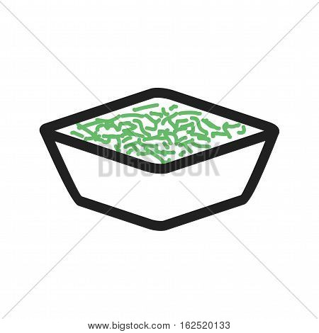 Coleslaw, bowl, salad icon vector image. Can also be used for european cuisine. Suitable for mobile apps, web apps and print media.