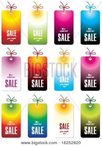 set of color tags