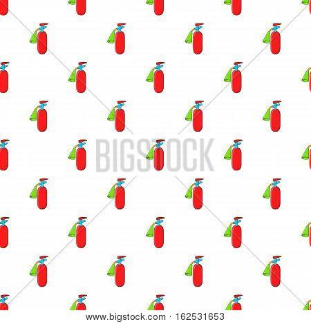 Fire extinguisher pattern. Cartoon illustration of fire extinguisher vector pattern for web