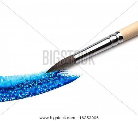 Künstler-Pinsel und Farbe