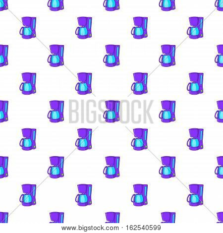 Coffee maker pattern. Cartoon illustration of coffee maker vector pattern for web
