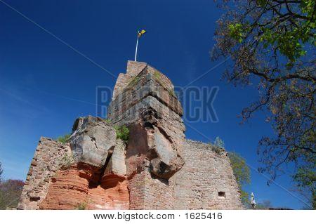 Summit Of Nanstein Castle Ruins In Landstuhl