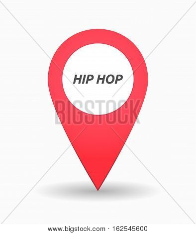 Isolated Map Mark With    The Text Hip Hop