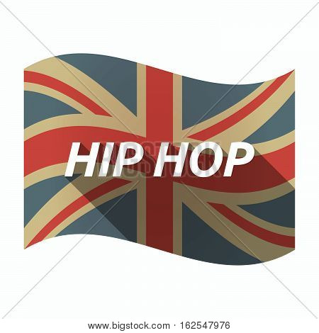 Isolated Uk Flag With    The Text Hip Hop