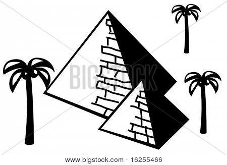 pyramids in the dessert
