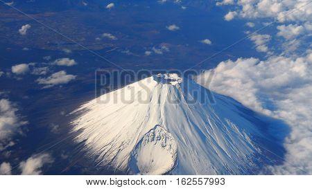 Top View Of Mt. Fuji.