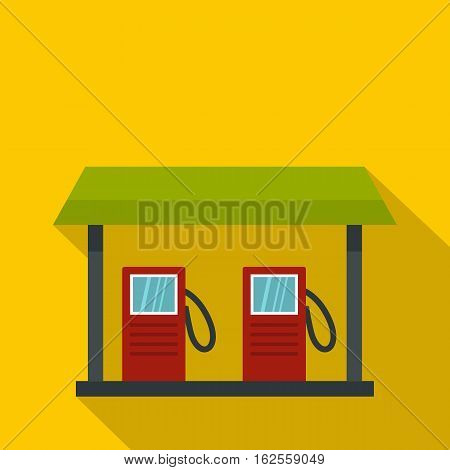 Gas station icon. Flat illustration of gas station vector icon for web