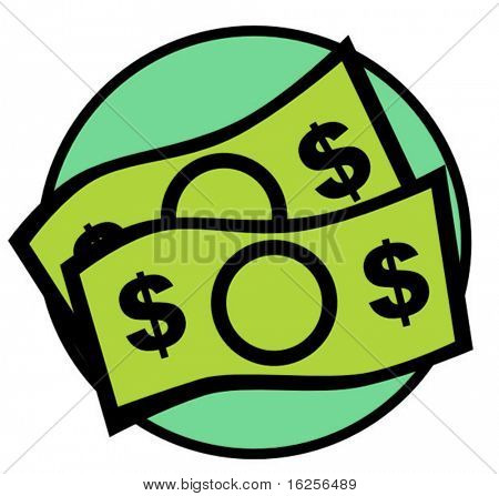 contas de dinheiro