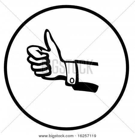 positive hand sign