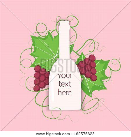 Grape Berry Leaf Behind Vine Bottle
