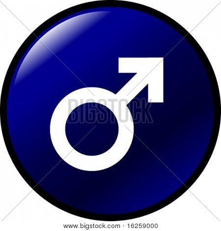 male gender symbol button