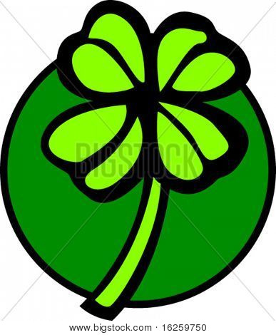 four leaves lucky charm shamrock or clover
