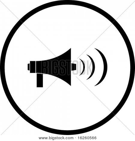 electric bullhorn symbol
