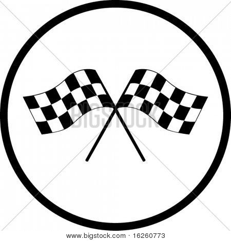 checkered flags symbol