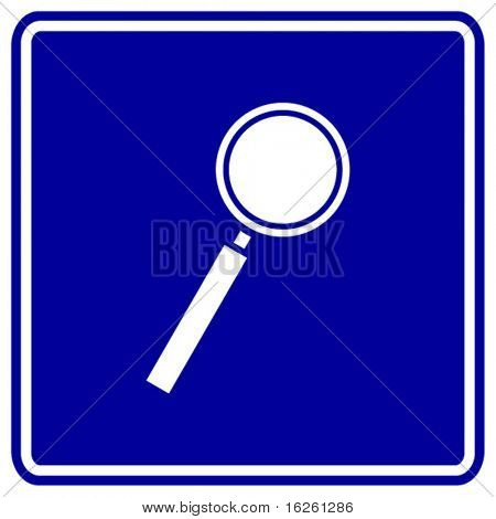 magnifier sign