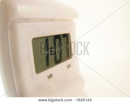 Digital Clock Close Up
