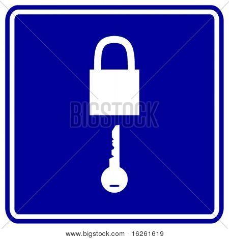 padlock and key sign