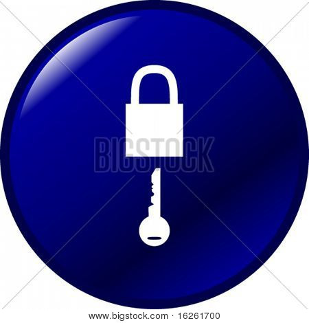 padlock and key button