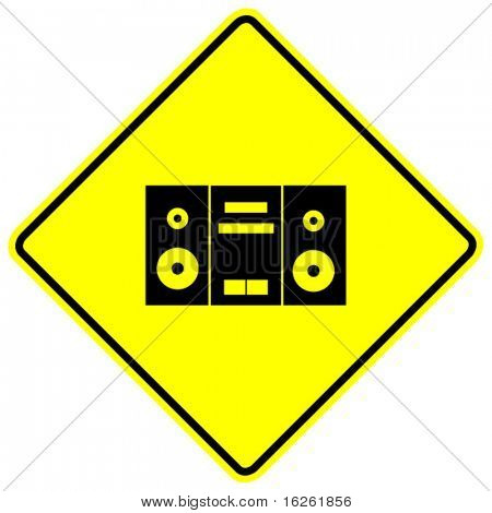 stereo zone sign