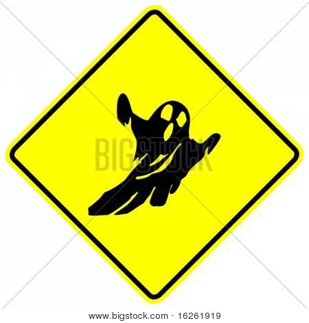 ghosts crossing sign