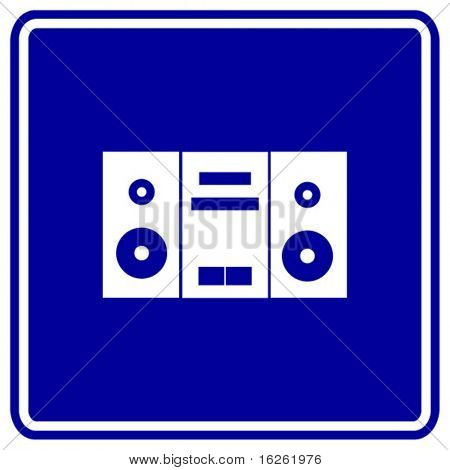 stereo sign