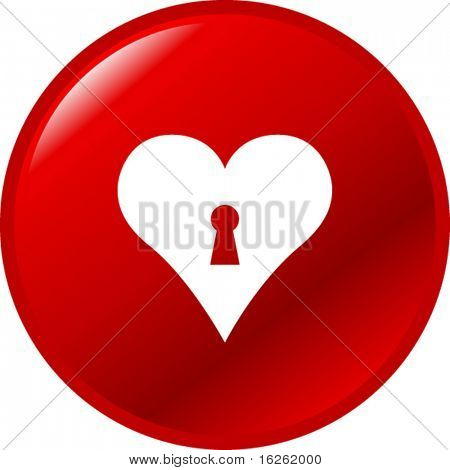 heart with keyhole button