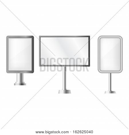 Creative ad banner abstract set. Layout corporate header card presentation site collection. Vertical text poster futuristic shopping footer concept.