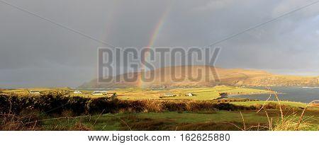 Double Rainbow, Coast of Ireland, County Kerry, Ireland.