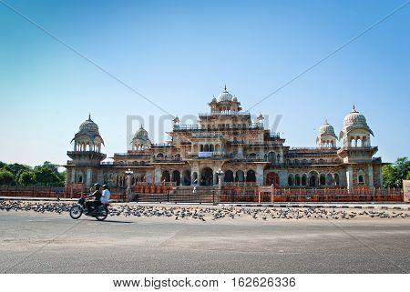 JAIPUR INDIA - SEP 27: Albert Hall (Central Museum) on September 27 2013 in Jaipur Rajasthan India . It is located in Ram Niwas Garden in Jaipur