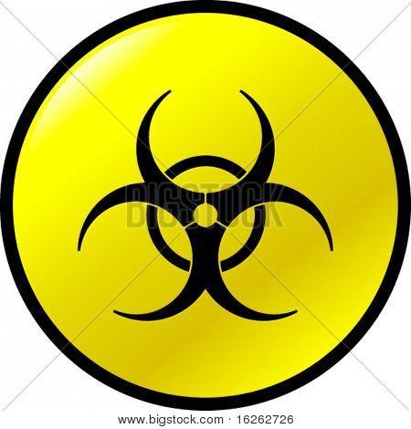 botón de Biohazard