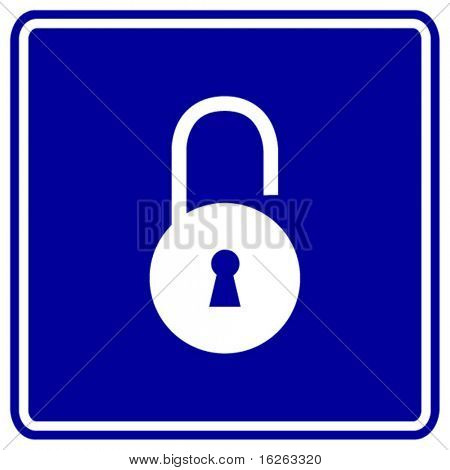 open padlock sign