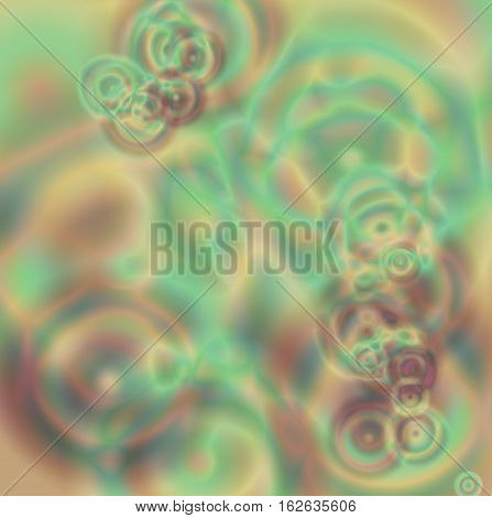 Abstract soft color background art ,horizontal Multi color light and greens and browns blur blended design and textures, one of a kind design artwork.