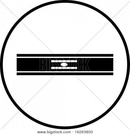 símbolo nivel de la línea de burbuja