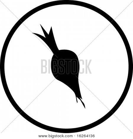 símbolo de beterraba