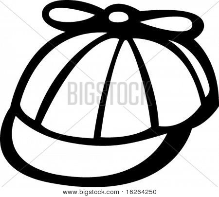funny hat with propeller