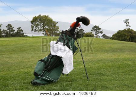 Golf Bag On Course