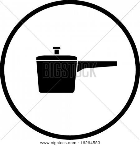 frying pan restaurant or kitchen symbol