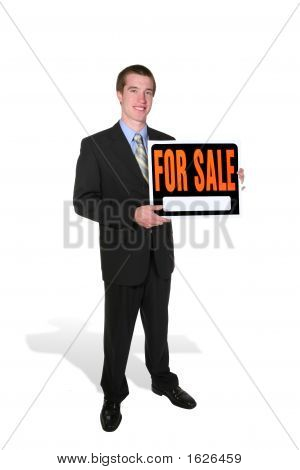 Business Man Selling (Focus On Man)