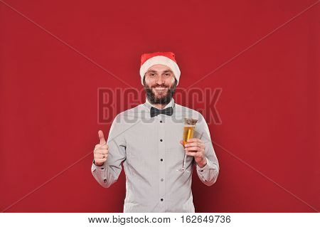 Guy With A Beard Wishes Merry Christmas