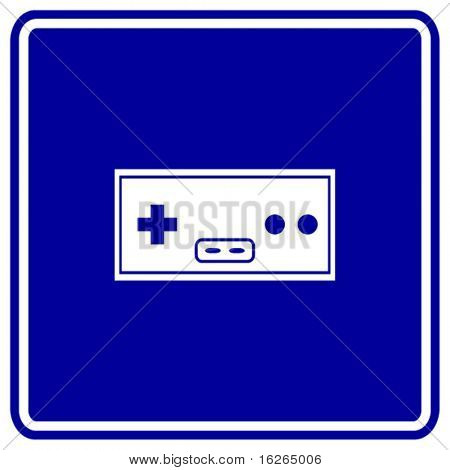 classic videogame joypad sign
