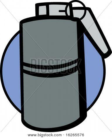 cylinder hand grenade explosive