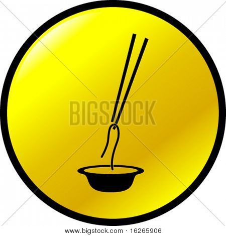 chinese noodles and chopsticks button