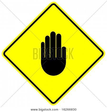 hand making a stop signal sign
