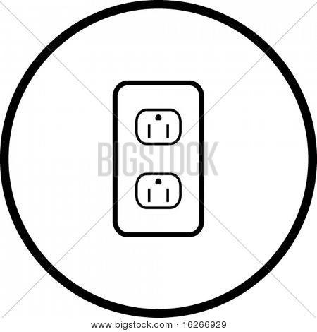 símbolo de puntos de venta de la energía de tierra