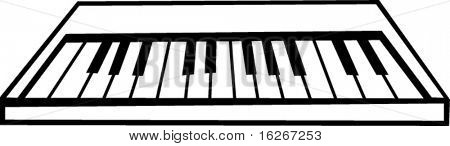 electronic musical keyboard