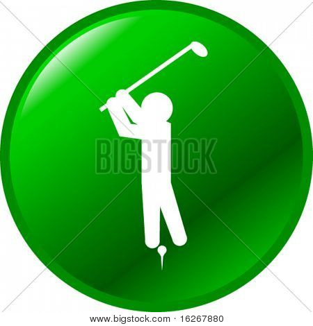 playing golf button