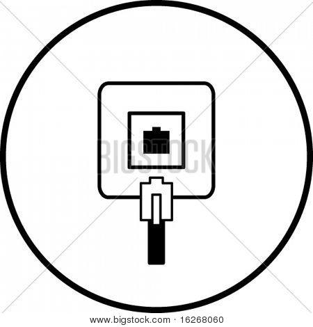 phone jack symbol