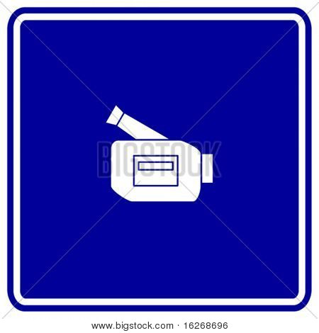 personal video camera sign