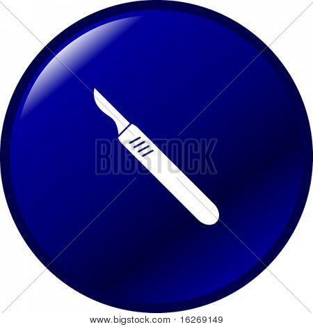scalpel knife button