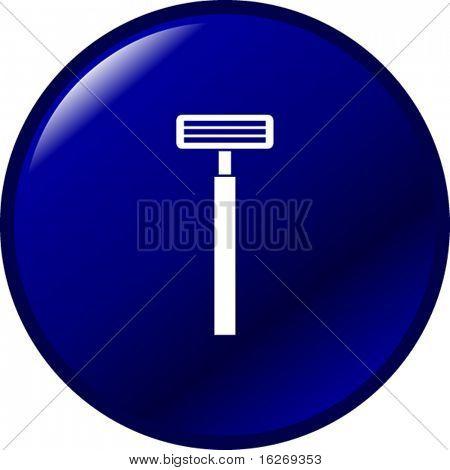 shaving razor button